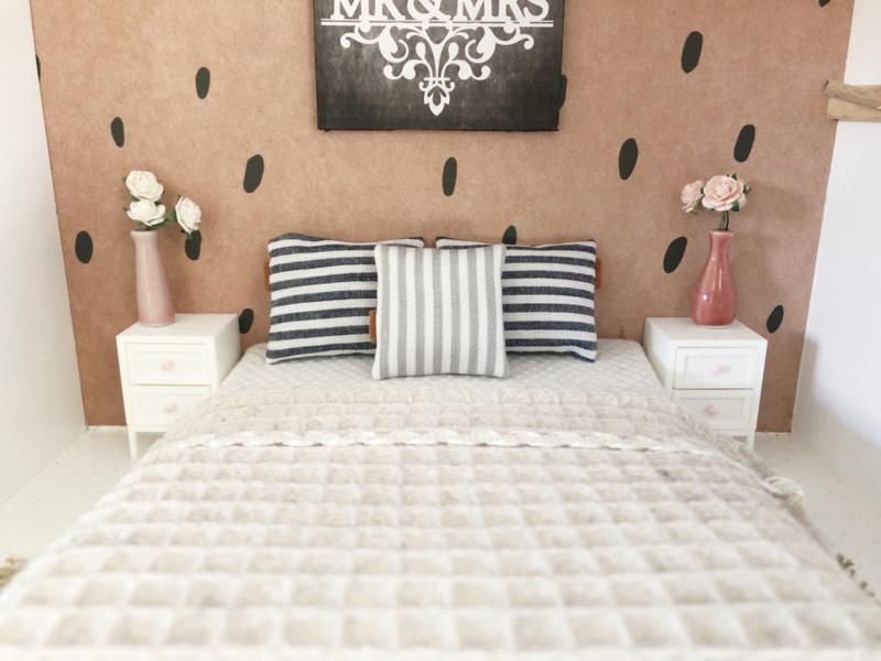 Textiel | kussen | 4 x 4 cm | strepen | Sand
