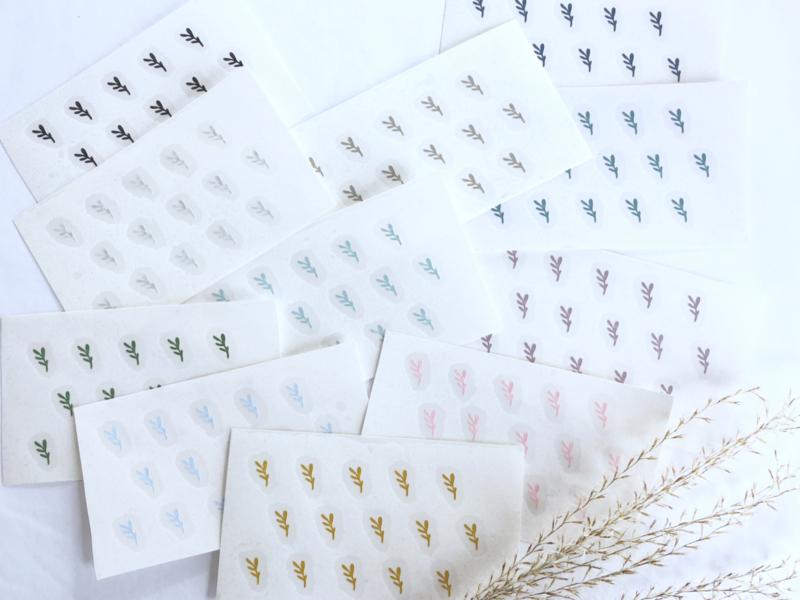 Slaapkamer | mini stickers | twijgjes
