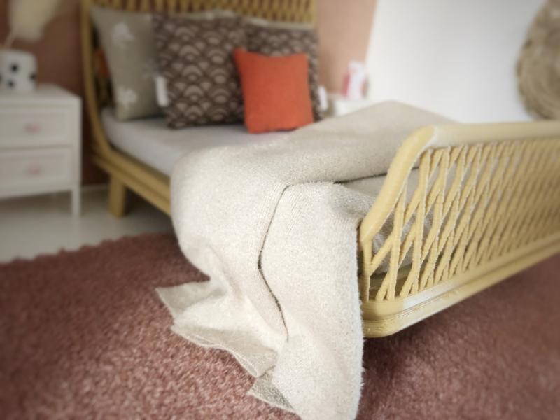 Textiel | beddengoed | 15 x 17 cm | Zand plaid