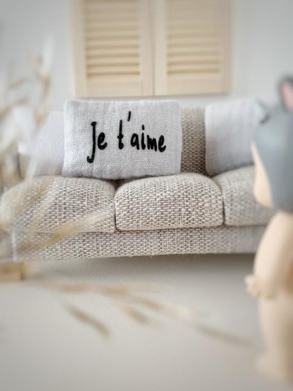 Textiel | kussens | 3 x 5 | C'est la vie grey