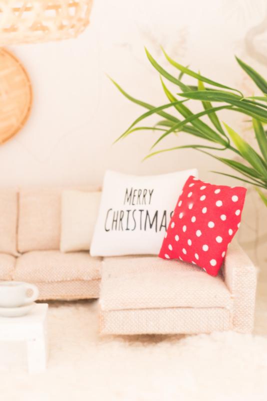 Feestdagen | Kerst | Kussen  4 x 4 cm | Stippen
