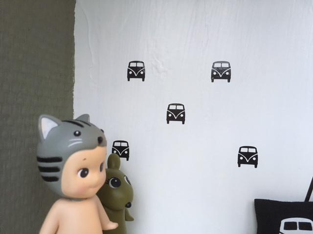 Slaapkamer | Mini stickers | vw bus