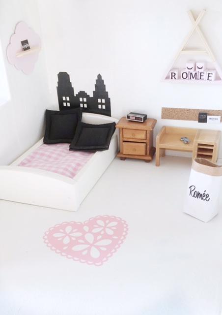 Slaapkamer   Mini sticker   Vloerkleed gehaakt
