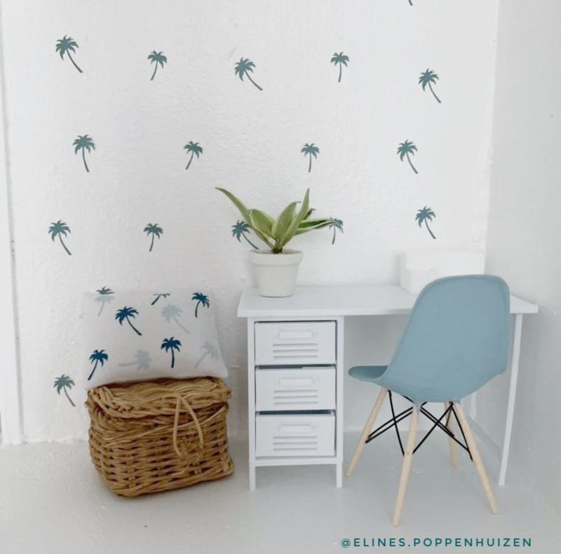 Algemeen   Dollhouse muurstickers   palmboompjes