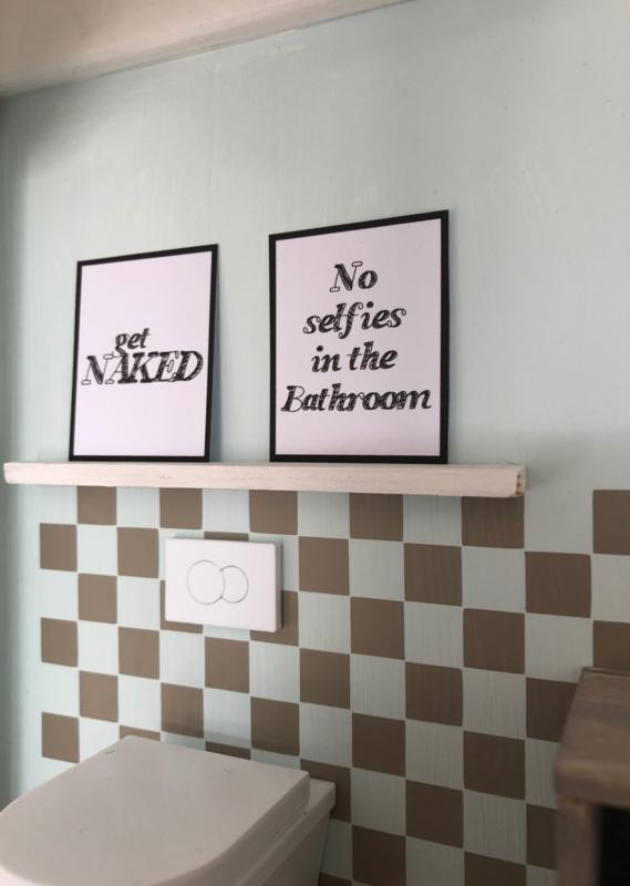 Badkamer | Posters | No Selfies..