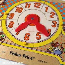 Fisher Price puzzel klok - muizen