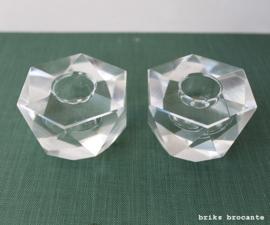 set kristallen kandelaars