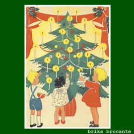 kaart kerst - kinderen bij kerstboom