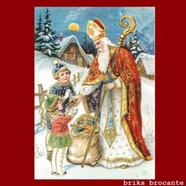kaart Sinterklaas met kinderen