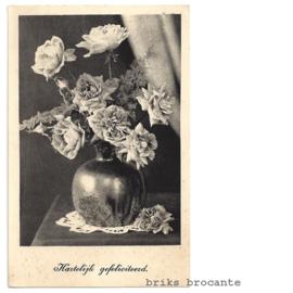 kaart bloemen in vaas
