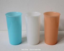 Tupperware drinkbekers pastel - set van 3
