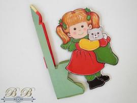 kerstmeisje met kaars