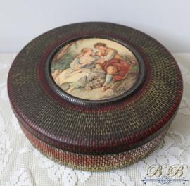 koekblik / trommel met vintage decoratie