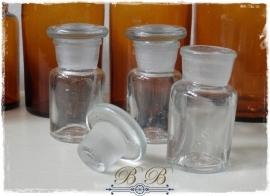 stopflesje helder glas