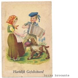 kaart kinderen met accordeon