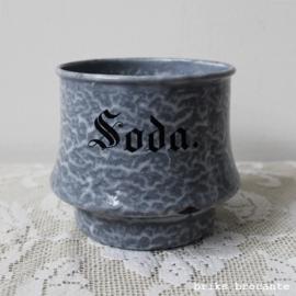 emaille bakje Soda - grijs gewolkt