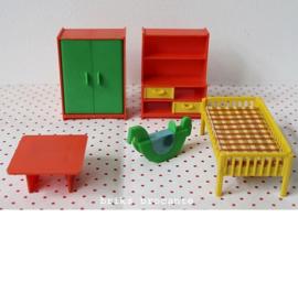 set poppenhuismeubels kinderkamer