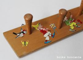 houten kapstok kabouters