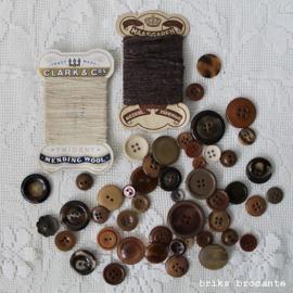 set vintage fournituren - bruin