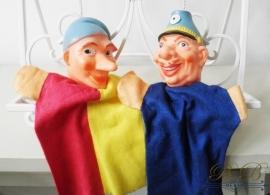 vintage poppenkastpoppen - Jan Klaassen & agent