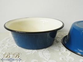 emaille schaal kobaltblauw (20 cm)