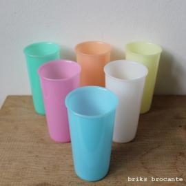 Tupperware drinkbekers pastel - set van 6