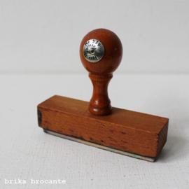 vintage boekhoudstempel - smal