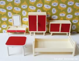 Modella poppenhuismeubels - slaapkamer