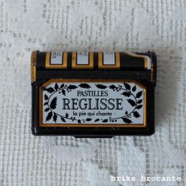 miniatuur blikje pastilles reglisse