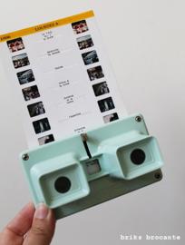 3D viewer / stereoscoop mintgroen