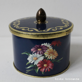 blik  Cote d'Or - blauw met bloemen