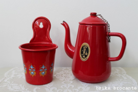emaille bakje - rood