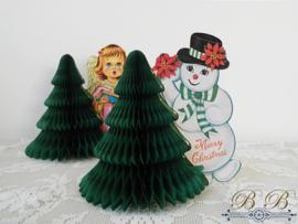 sneeuwpop met kerstboom