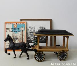 paard en wagen - gietijzer