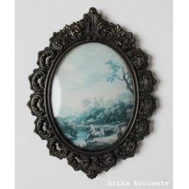 metalen lijstje met victoriaanse afbeelding