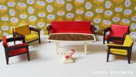 Modella poppenhuismeubels - woonkamer