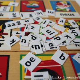 Simplex leesplankje + letters