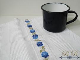 wafeldoek met bloemenband