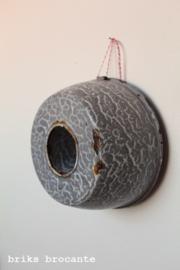 emaille tulbandvorm grijs gewolkt