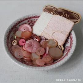 set vintage fournituren - roze