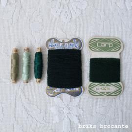 set vintage fournituren - groen