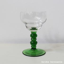 wijnglas - groene voet