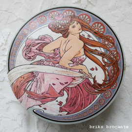 blik / bonbonblik art nouveau - Mucha