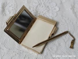 vintage notitieboekje  + spiegeltje