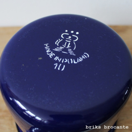 emaille beker - diepblauw