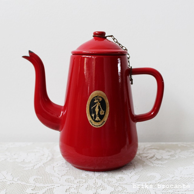 emaille koffiepot - rood