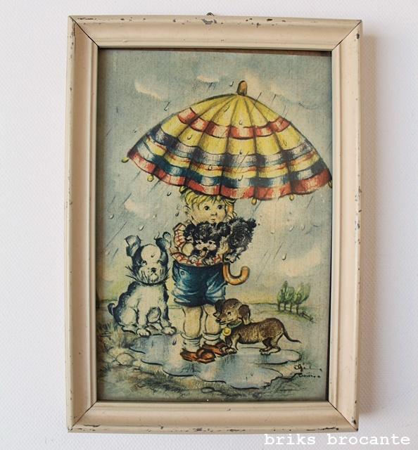 vintage lijstje met prent