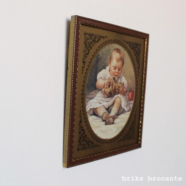 (foto) lijstje bruin/goud