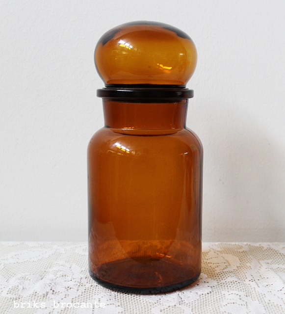 voorraadpot bruin glas