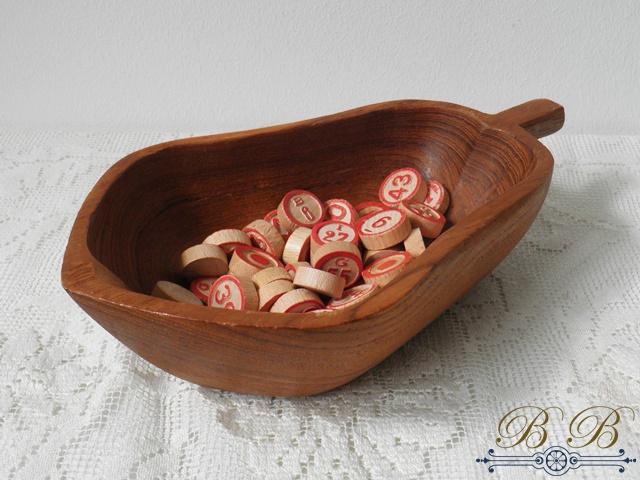 houten bakje peer